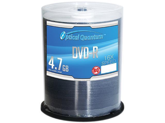 Optical Quantum 4.7GB 16X DVD-R 100 Packs Silver Top Disc Model OQBQDMR16ST