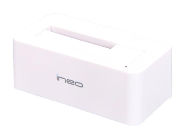 INEO I-NA317U-Plus (White) 2.5-Inch/3.5-Inch SATA USB 3.0/ USB 2.0 Hard Drive Docking Station