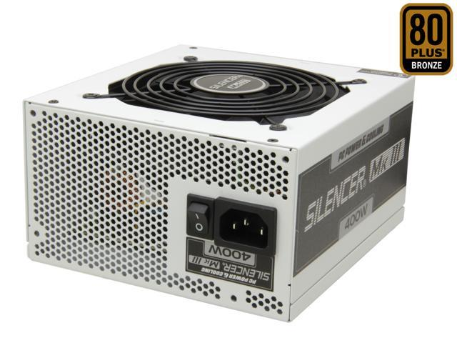 PC Power & Cooling Silencer Series PPCMK3S400 400 Watt (400W) 80 Plus Bronze Semi-Modular Active PFC ATX PC Power Supply Industrial Grade