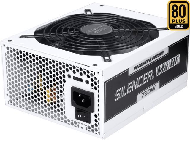 PC Power & Cooling Silencer Series PPCMK3S750 750 Watt (750W) 80 Plus Gold Semi-Modular Active PFC ATX PC Power Supply Industrial Grade