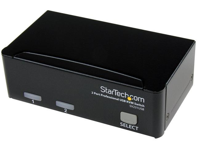 StarTech SV231USB 2 Port Professional USB KVM Switch Kit with Cables