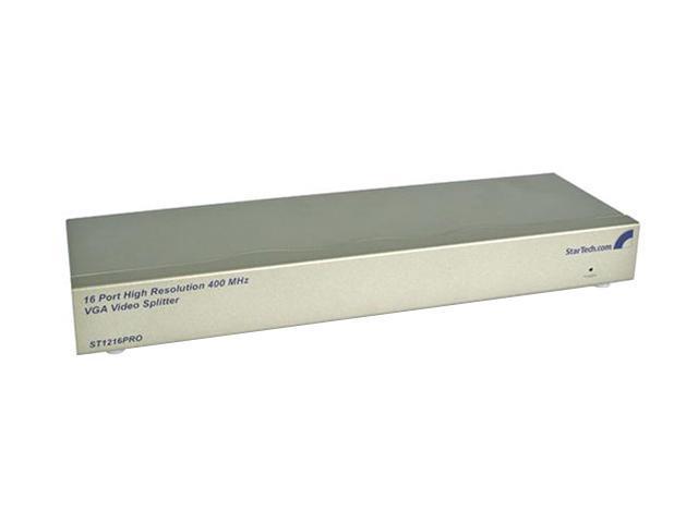 StarTech ST1216PRO 16 Port 400 MHz VGA Video Splitter/Distribution Amplifier