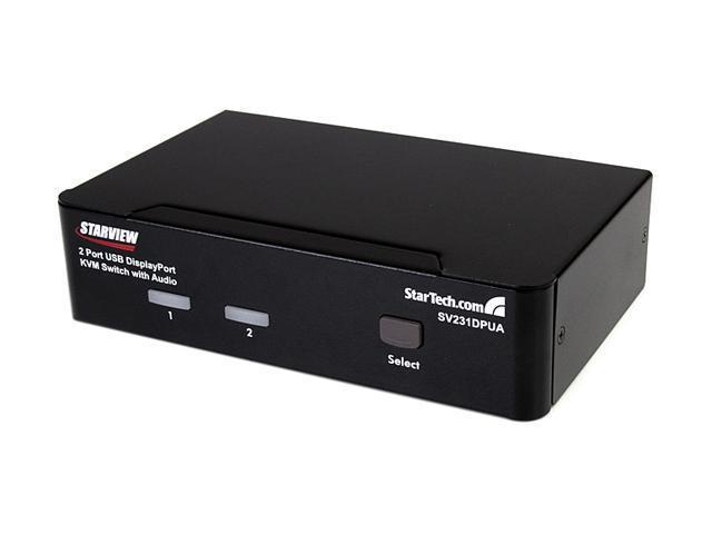StarTech SV231DPUA 2 Port Professional USB DisplayPort KVM Switch with Audio