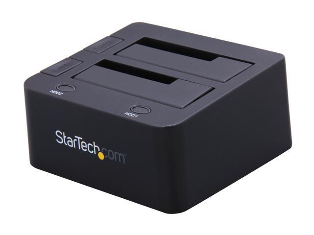 StarTech SATDOCK22U3S Black Dual 2.5/3.5in SATA Hard Drive Docking Station