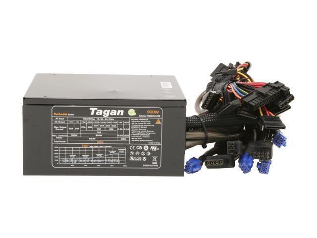Tagan TG900-U96 900W ATX12V / EPS12V SLI Certified CrossFire Ready Active PFC Power Supply