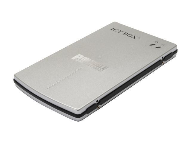 "ICY BOX IB-250StU Aluminum 2.5"" Silver Mini-USB 2.0 Pocket sized External Enclosure"