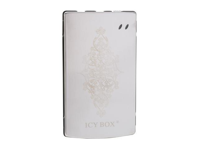 "ICY BOX IB-251U Stainless steel 2.5"" Silver Mini-USB 2.0 External Enclosure w/ laser ornament"