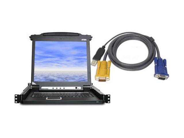 ATEN CL1008MUKIT 8-port LCD KVM with 8-USB KVM cables