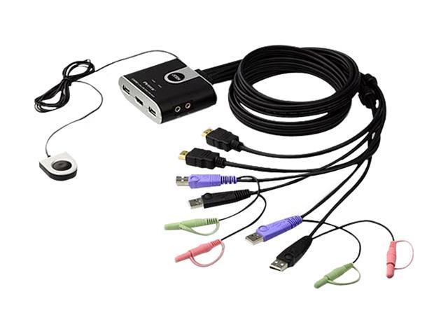 ATEN CS692 2-Port USB HD Video/Audio KVM Switch