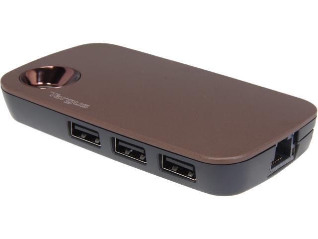 Targus Ultralife ACH121US USB Hub with Ethernet Port