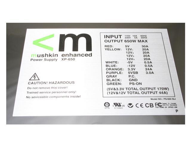 mushkin XP-650 650W ATX12V SLI Ready Modular Power Supply
