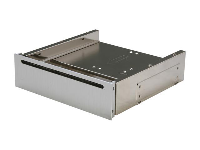 """SilverStone SST-FP58S 5.25"""" Aluminum Cover Bay for Slot-load Slim ODD and 4 x 2.5"""" HDD/SSD -Silver"""