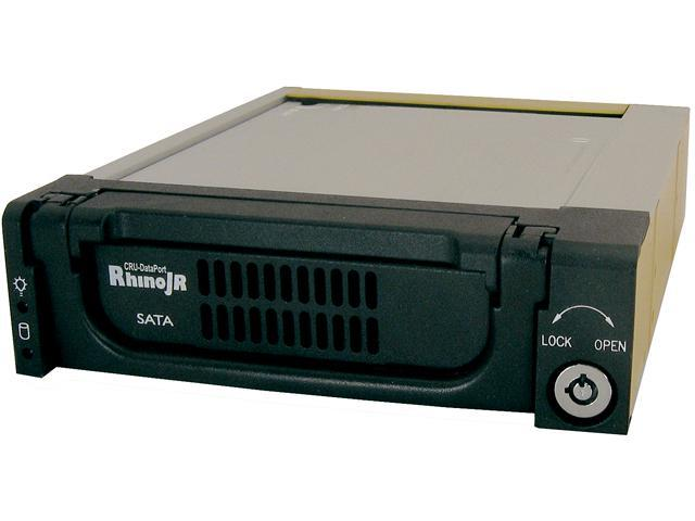 CRU 6650-5000-0500 Rhino JR RJR110 Removable Hard Drive Enclosure, SATA 3Gb/s Interface, Black,