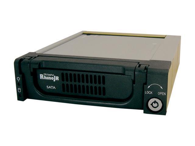 CRU DataPort Rhino JR RJR110 6651-5000-0500 Carrier Only, SATA 3Gb/s, Black
