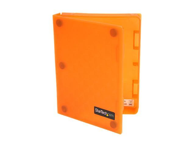 StarTech HDDCASE25OR 2.5in Anti-Static Hard Drive Protector Case - Orange (3pk)