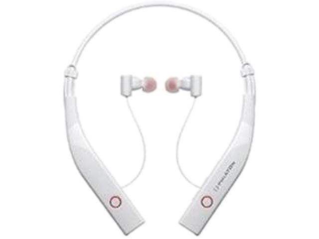 Phiaton BT 100 NC Bluetooth 4.0 Wireless Noise Cancelling In-Ear Headphones - White