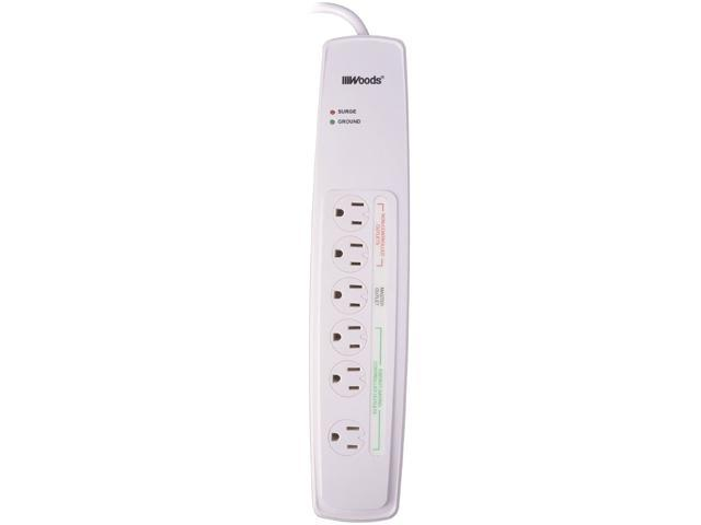 Coleman Cable 6-Outlets Surge Suppressor/Protector - 6 - 1500 J