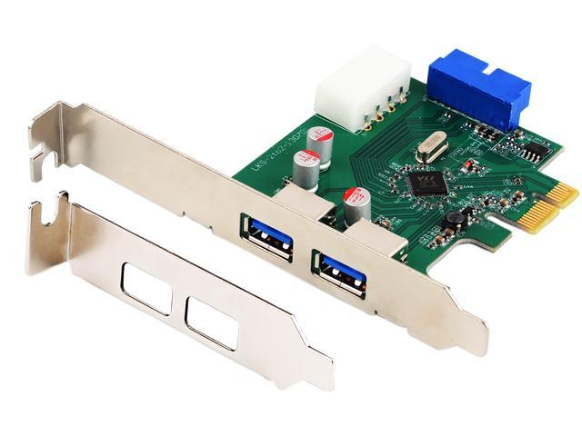 HooToo HT-PC002 SuperSpeed USB 3.0 2-Port PCI-E Add-On Expansion Card with Internal USB 3.0 19-Pin Motherboard Male Header & 5V 4-Pin Molex Power Connector (VIA VL800 Chipset, Solid Capacitors)