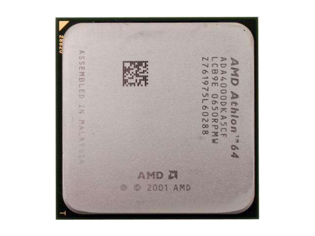 AMD Athlon 64 4000+ San Diego 2.4GHz Socket 939 89W Single-Core Processor ADA4000DKA5CF - OEM
