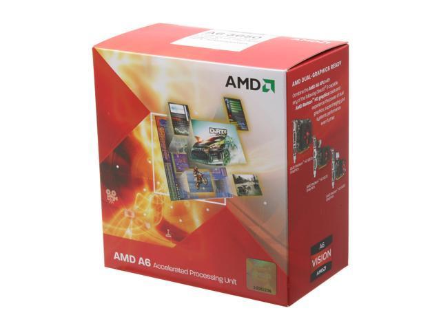 AMD A6-3650 Llano 2.6GHz Socket FM1 100W Quad-Core Desktop APU (CPU + GPU) with DirectX 11 Graphic AMD Radeon HD 6530D AD3650WNGXBOX