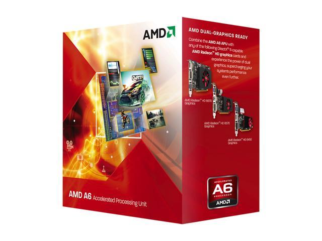 AMD A6-3650 Llano Quad-Core 2.6 GHz Socket FM1 100W AD3650WNGXBOX Desktop APU (CPU + GPU) with DirectX 11 Graphic AMD Radeon HD 6530D