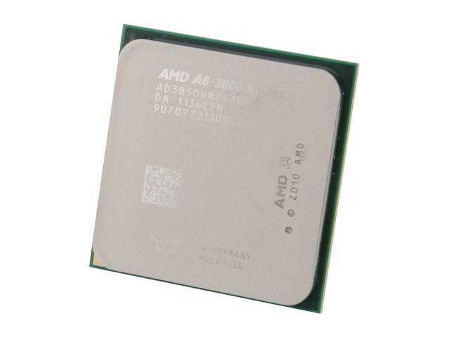 AMD A8-3850 Llano Quad-Core 2.9 GHz Socket FM1 100W AD3850WNZ43GX Desktop APU with DirectX 11 Graphic AMD Radeon HD 6550D