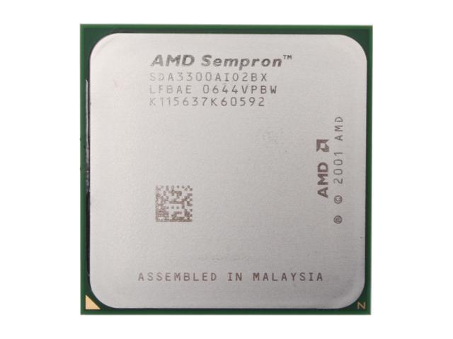 AMD Sempron 64 3300+ Palermo 2.0GHz Socket 754 Single-Core Processor SDA3300AIO2BX - OEM