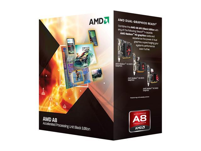 AMD A8-3870K Unlocked Llano Quad-Core 3.0 GHz Socket FM1 100W AD3870WNGXBOX Desktop APU (CPU + GPU) with DirectX 11 Graphic AMD Radeon HD 6550D
