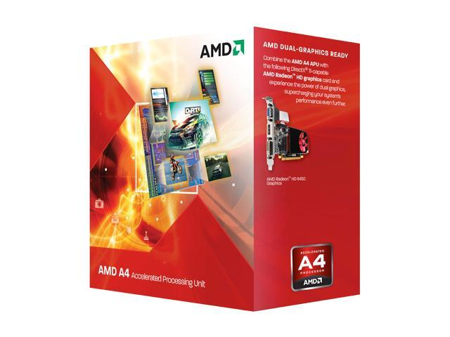 AMD A4-3300 Llano Dual-Core 2.5 GHz Socket FM1 65W AD3300OJHXBOX Desktop APU (CPU + GPU) with DirectX 11 Graphic AMD Radeon HD 6410D