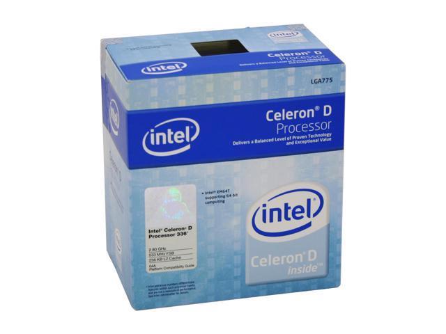 Intel Celeron D 336 Prescott 2.8GHz LGA 775 84W Single-Core Processor BX80547RE2800CN