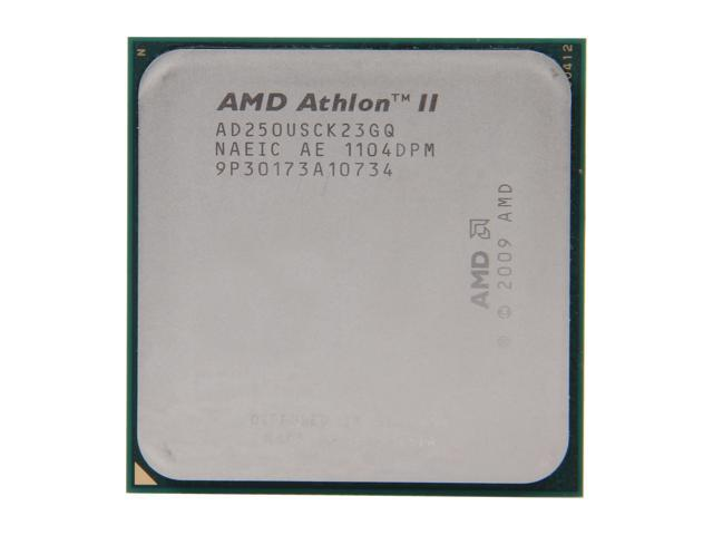 AMD Athlon II X2 250u Regor Dual-Core 1.6 GHz Socket AM3 25W AD250USCK23GQ Desktop Processor