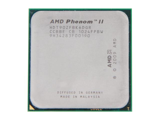 AMD Phenom II X6 1090T 3.2GHz (3.6GHz Turbo Boost) Socket AM3 HDT90ZFBK6DGR Desktop Processor