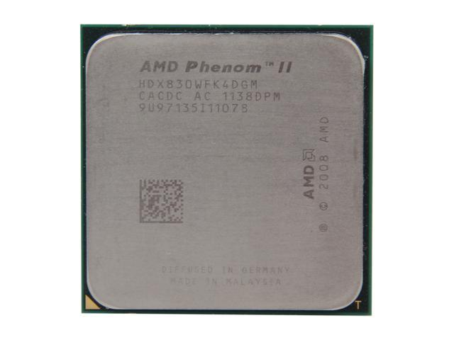 AMD Phenom II X4 830 Deneb Quad-Core 2.8 GHz Socket AM3 95W HDX830WFK4DGM Desktop Processor