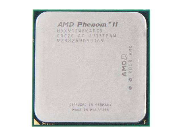 AMD Phenom II X4 910 Deneb Quad-Core 2.6 GHz Socket AM3 95W HDX910WFK4DGI Desktop Processor