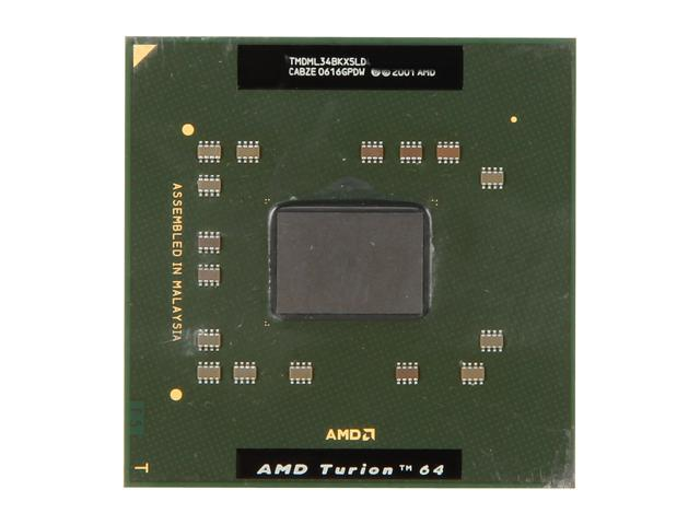 AMD Turion 64 ML-34 Lancaster 1.8 GHz Socket 754 Single-Core TMDML34BKX5LD Mobile Processor
