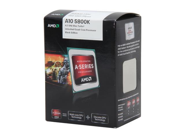 AMD A10-5800K Trinity Quad-Core 3.8 GHz Socket FM2 100W AD580KWOHJBOX Desktop APU (CPU + GPU) with DirectX 11 Graphic AMD Radeon HD 7660D