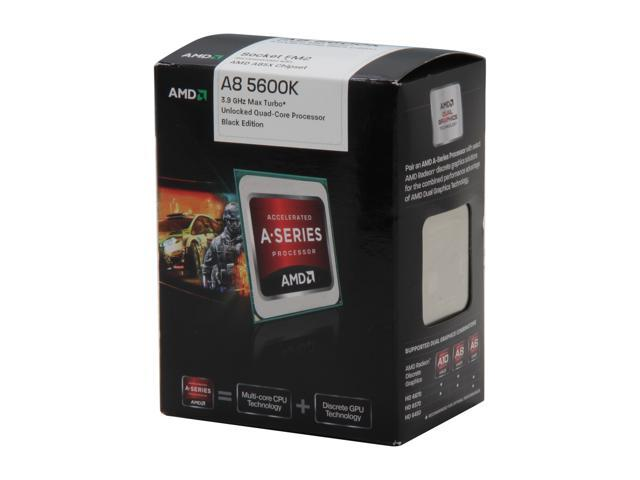 AMD A8-5600K Trinity Quad-Core 3.6GHz (3.9GHz Turbo) Socket FM2 100W AD560KWOHJBOX Desktop APU (CPU + GPU) with DirectX 11 Graphic AMD Radeon HD 7560D