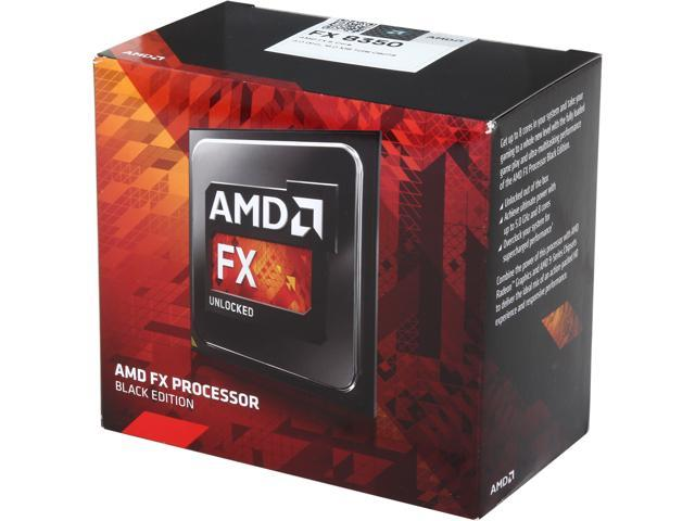 AMD Processor FX-8350 Black Edition Vishera 8-Core 4.0GHz (4.2GHz Turbo) Socket AM3+ 125W D8350FRHKBOX