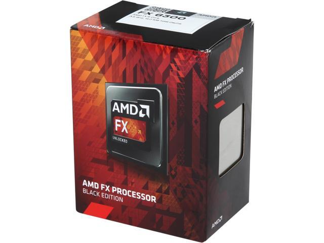 AMD FX-6300 Vishera 6-Core 3.5 GHz (4.1 GHz Turbo) Socket AM3+ 95W FD6300WMHKBOX Desktop Processor