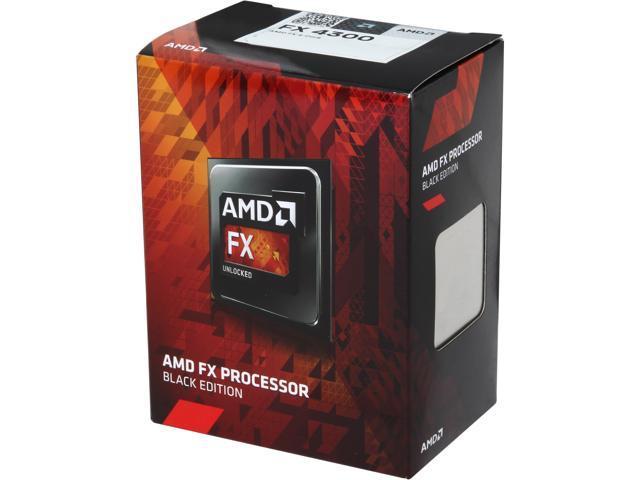 AMD FX 4300 Vishera Quad Core 38 GHz Socket AM3 95W