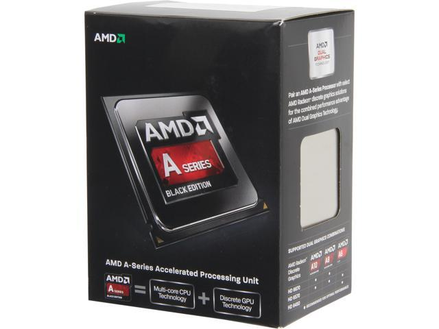 AMD A10-6800K Richland 4.1 GHz (4.4GHz Turbo) Socket FM2 100W Quad-Core Desktop Processor - Black Edition AMD Radeon HD 8670D