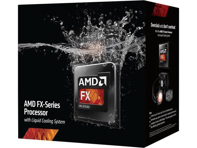 AMD FX-9590 Vishera 4.7GHz Socket AM3+ 220W 8-Core Desktop Processor - Black Edition FD9590FHHKWOX with Liquid Cooling Kit