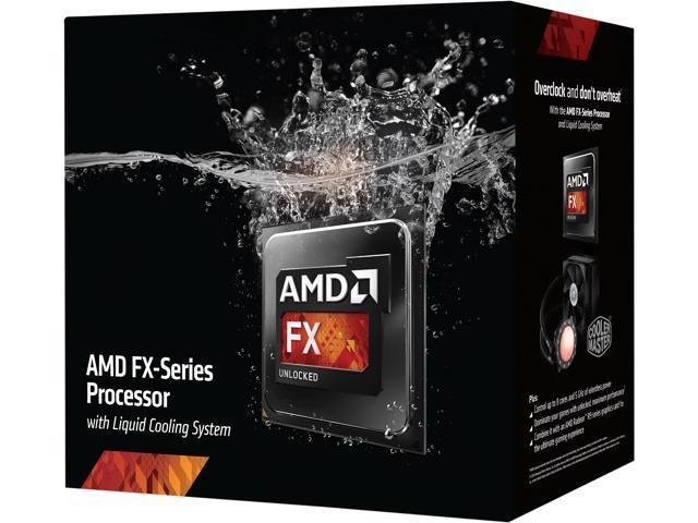 AMD FX-9370 Vishera 4.4GHz Socket AM3+ 220W 8-Core Desktop Processor - Black Edition FD9370FHHKWOX with Liquid Cooling Kit