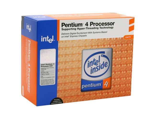 Intel Pentium 4 630 Prescott 3.0GHz LGA 775 Single-Core EM64T Processor BX80547PG3000F