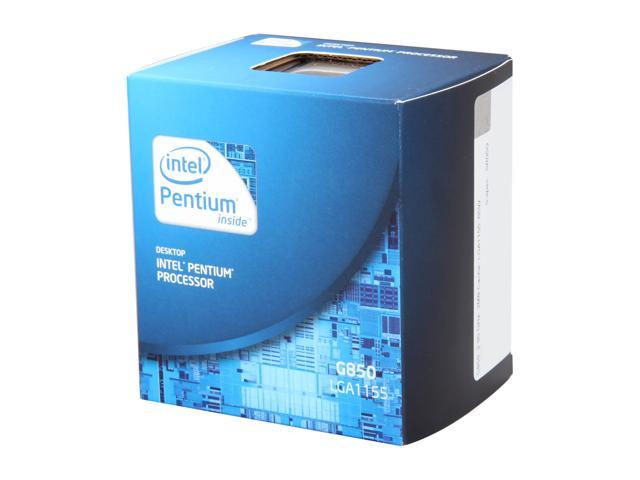 Intel Pentium G850 Sandy Bridge Dual-Core 2.9 GHz LGA 1155 65W BX80623G850 Desktop Processor Intel HD Graphics 2000