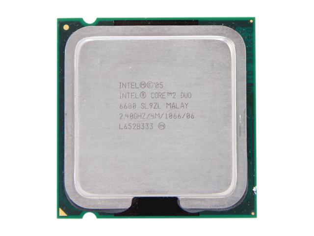 Intel Core 2 Duo E6600 Conroe Dual-Core 2.4 GHz LGA 775 65W SL9ZL Desktop Processor - Newegg.com