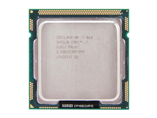 Intel Core i7-860 Lynnfield Quad-Core 2.8GHz (3.46GHz Turbo Boost) LGA 1156 95W SLBJJ Desktop Processor