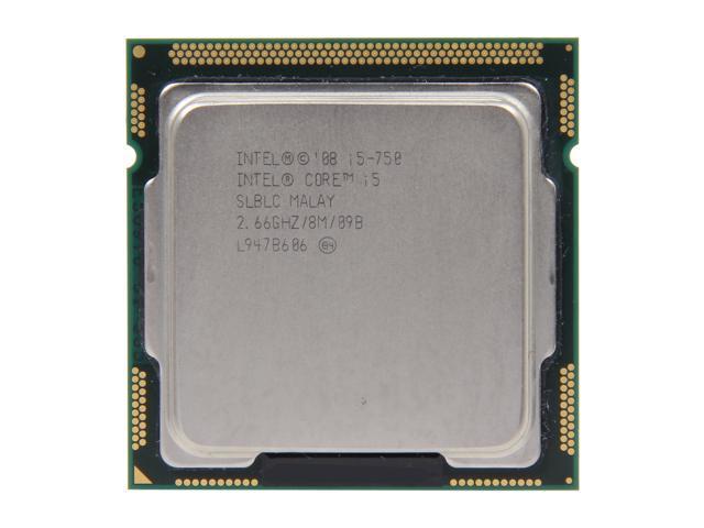 Intel Core i5-750 Lynnfield Quad-Core 2.66GHz (3.2GHz Turbo Boost) LGA 1156 95W SLBLC Desktop Processor