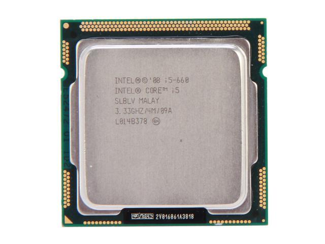 Intel Core i5-660 Clarkdale Dual-Core 3.33GHz (3.6GHz Turbo Boost) LGA 1156 73W SLBLV Desktop Processor Intel HD Graphics