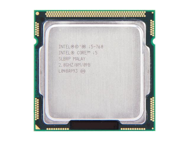 Intel Core i5-760 Lynnfield Quad-Core 2.8 GHz LGA 1156 95W SLBRP Desktop Processor